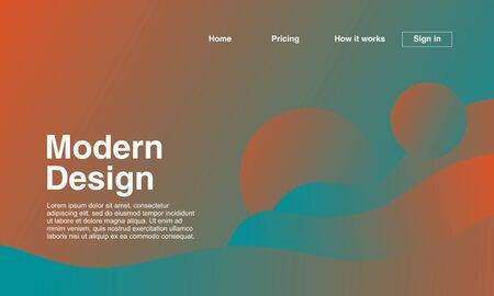Foto für Modern design of landing page with abstract geometric minimalist and gradient colors. Vector illustration - Lizenzfreies Bild
