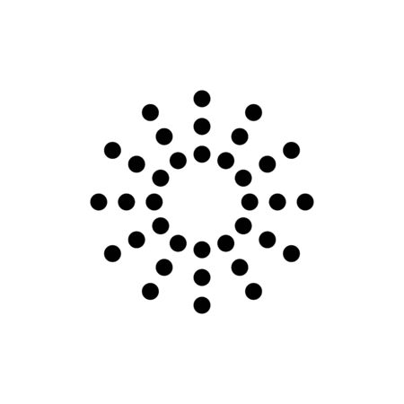 Ilustración de Sunburst or sun burst line art vector icon for apps and websites. sunlight abstract symbol of light and flash. - Imagen libre de derechos
