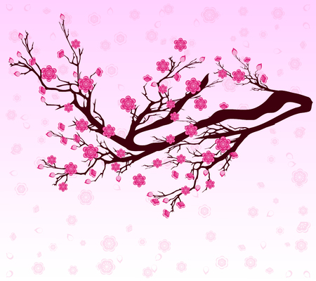 Illustration pour Vector Cherry blossom for Chinese New Year and lunar new year - image libre de droit
