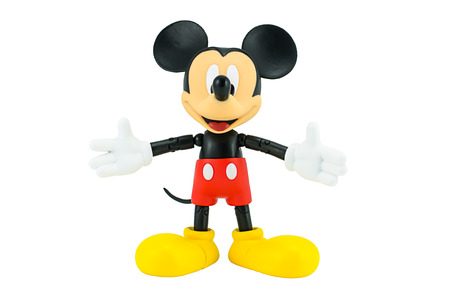 Photo for Bangkok,Thailand - January 5, 2015: Mickey  mouse action figure from Disney character. This character from Mickey mouse and friend animation series. - Royalty Free Image