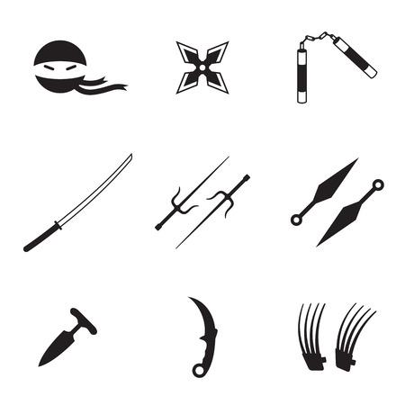 Ilustración de Ninja icons - Imagen libre de derechos