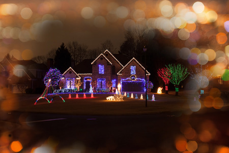 Photo for Christmas decorated house - Royalty Free Image
