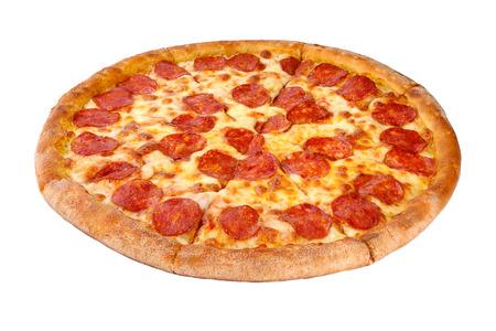Foto de Pizza isolated on white background - Imagen libre de derechos