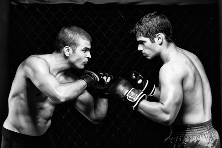 MMA - Mixed martial artists before a fight
