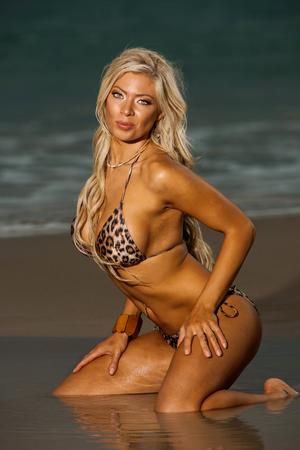 Photo for Sexy beach bikini girl - Royalty Free Image