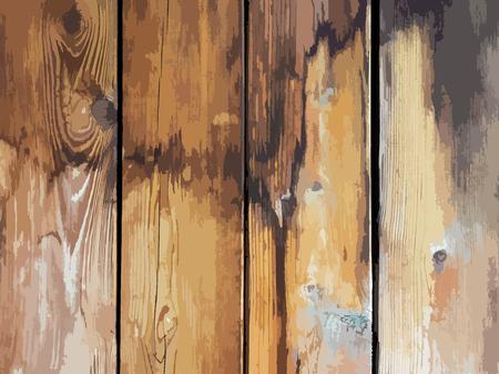 Ilustración de Vector illustration texture old wooden board with cracks and spots - Imagen libre de derechos