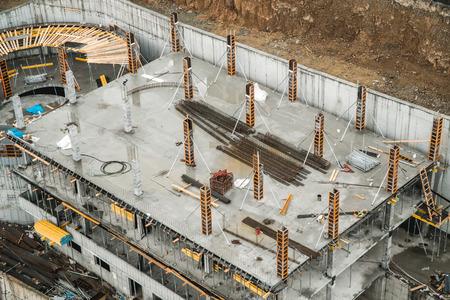Foto de The photo of two buildings under construction standing on distance - Imagen libre de derechos