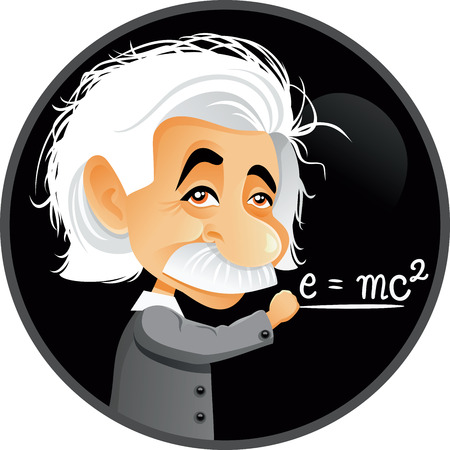 Illustration pour Editorial Albert Einstein Vector Cartoon Illustration - image libre de droit