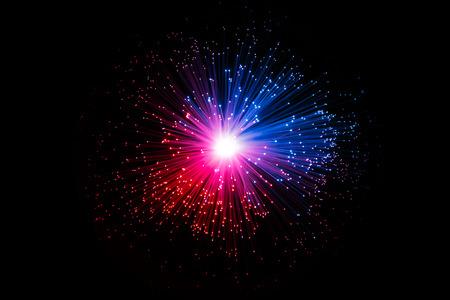 Photo pour Abstract Optic Fiber Sci-Fi Technology Concept Background - image libre de droit