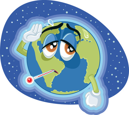 Ilustración de High Temperature Global Warming Earth Concept Illustration - Imagen libre de derechos