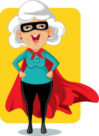 Foto de Super Granny Cartoon Vector Illustration - Imagen libre de derechos