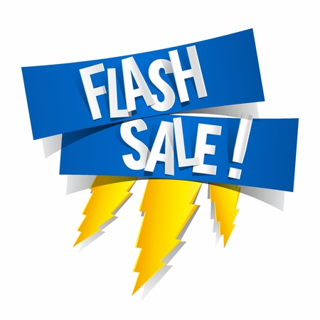 Illustration for Flash Sale Design With Thunder vector illustration - Royalty Free Image