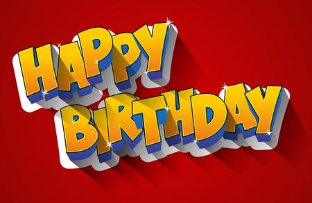 Illustration pour Happy Birthday Greeting Card  - image libre de droit