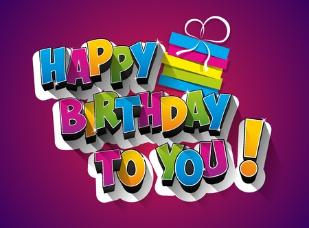 Illustration for Happy Birthday celebration greeting card illustration - Royalty Free Image