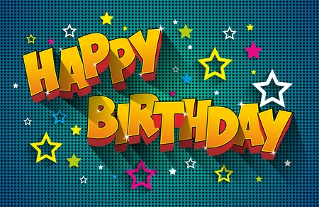 Illustration for Happy Birthday Greeting Card On Background vector Illustration - Royalty Free Image