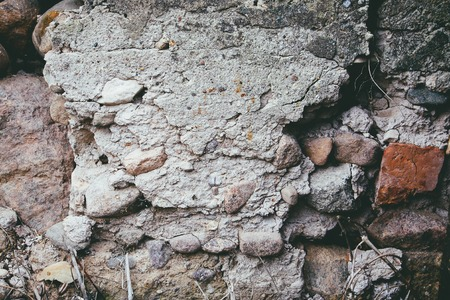 Photo for Old stone wall texture. Natural rough background. - Royalty Free Image