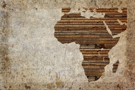 Photo for Grunge vintage wooden plank Africa map background. - Royalty Free Image