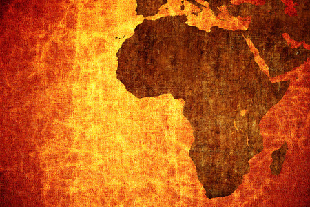 Photo for Grunge vintage scratched Africa map background. - Royalty Free Image