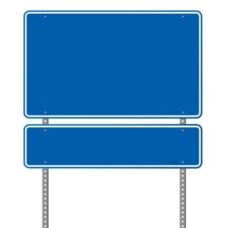Illustration pour Blank Blue Road Sign - image libre de droit