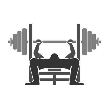Illustration for Bench Press Icon - Royalty Free Image