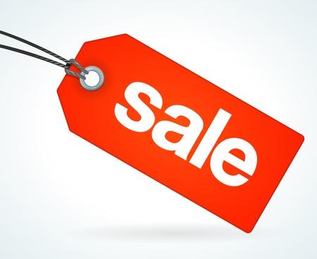 Ilustración de Red Sale Tag - Imagen libre de derechos
