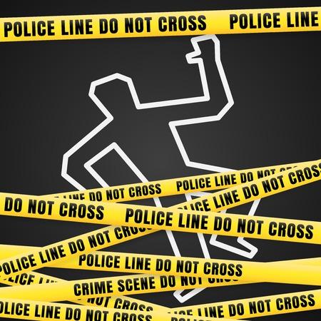 Illustration pour Accident with Victim - image libre de droit