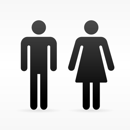 Illustration pour Female and Male symbol - image libre de droit