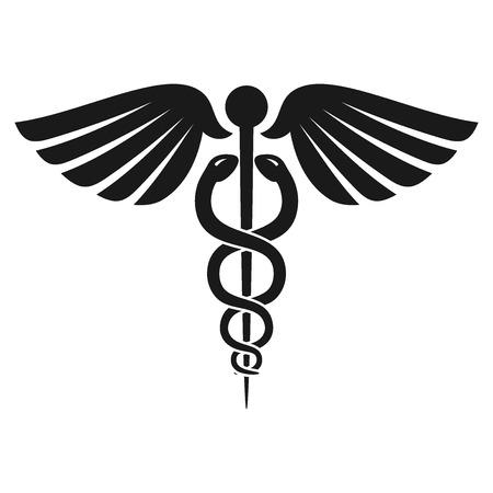Ilustración de Health Caduceus Symbol - Imagen libre de derechos