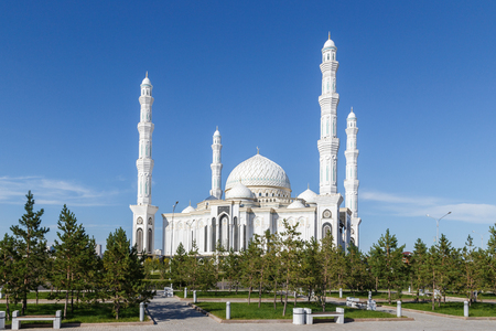 Foto de Hazrat Sultan Mosque. Astana, Kazakhstan - Imagen libre de derechos
