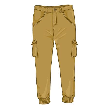 Ilustración de Vector Single Cartoon Illustration - Light Brown Jogger Pants - Imagen libre de derechos