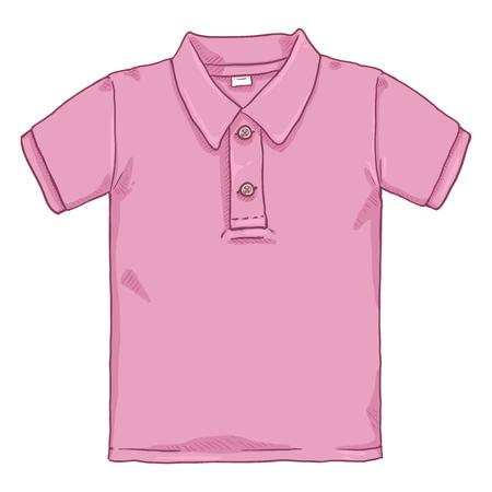 Ilustración de Vector Cartoon Illustration - Pink Polo Shirt - Imagen libre de derechos