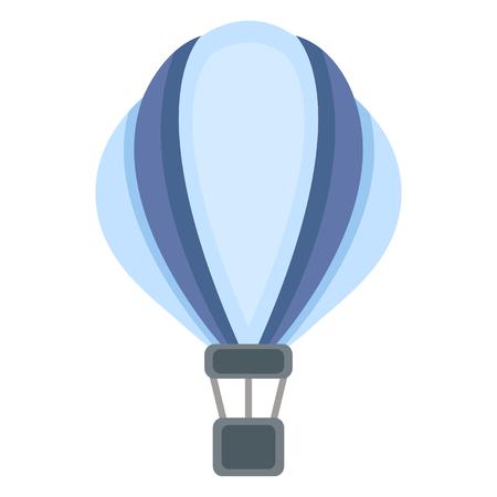 Illustration pour Vector Flat Blue Aerostat Balloon Icon - image libre de droit