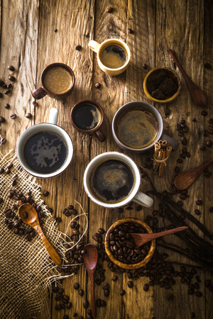 Foto de Coffee. Cup of turkish coffee with sugar. Vintage coffee - Imagen libre de derechos