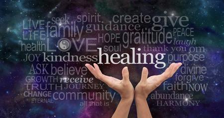 Photo pour Infinite Healing Words - image libre de droit