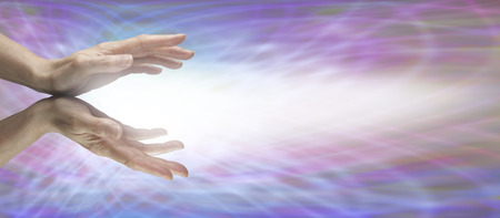 Photo pour Beaming Reiki Energy - image libre de droit