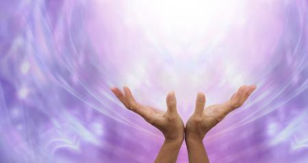 Photo pour Sending Distant Healing into the Light - image libre de droit