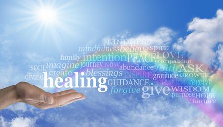 Foto de Sending Rainbow Healing - Imagen libre de derechos