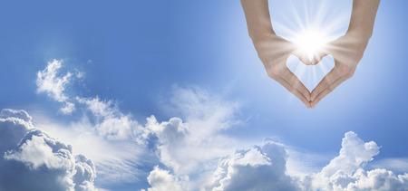 Foto de Sun Lover Blue Sky Banner - Imagen libre de derechos