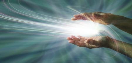 Photo pour Sensing Supernatural Energy - image libre de droit