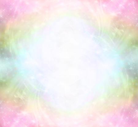 Foto de Ethereal Rainbow Healing Light Energy Field - Imagen libre de derechos