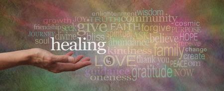 Foto de Wise Healing Words Parchment Website Header - Imagen libre de derechos