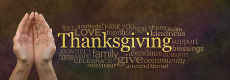 Foto de Thanksgiving Word Cloud Website Banner  - Imagen libre de derechos