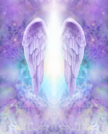 Photo for Lilac Angel Wings - Royalty Free Image