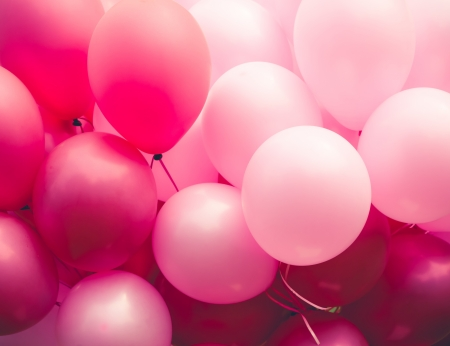 Photo for pink ballons background - Royalty Free Image