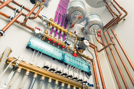 Photo for independent heating system in boiler-house - Royalty Free Image