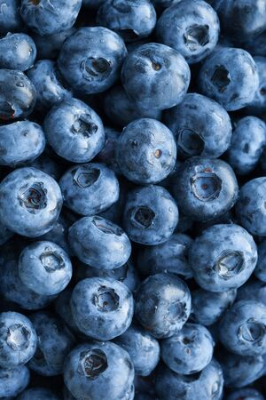 Photo for fresh blueberries background, closeup view - Royalty Free Image