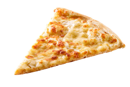 Foto de slice of cheese pizza close-up isolated on white background  - Imagen libre de derechos