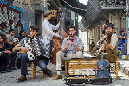 Photo for Istanbul street musicians - Royalty Free Image
