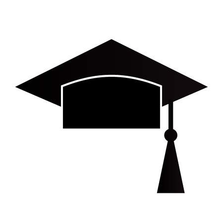 Mortar Board or Graduation Cap isolated on a white background