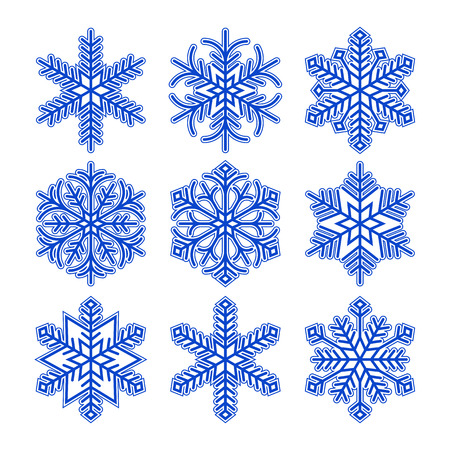 Illustration for Snowflakes  isolated on white background - Royalty Free Image
